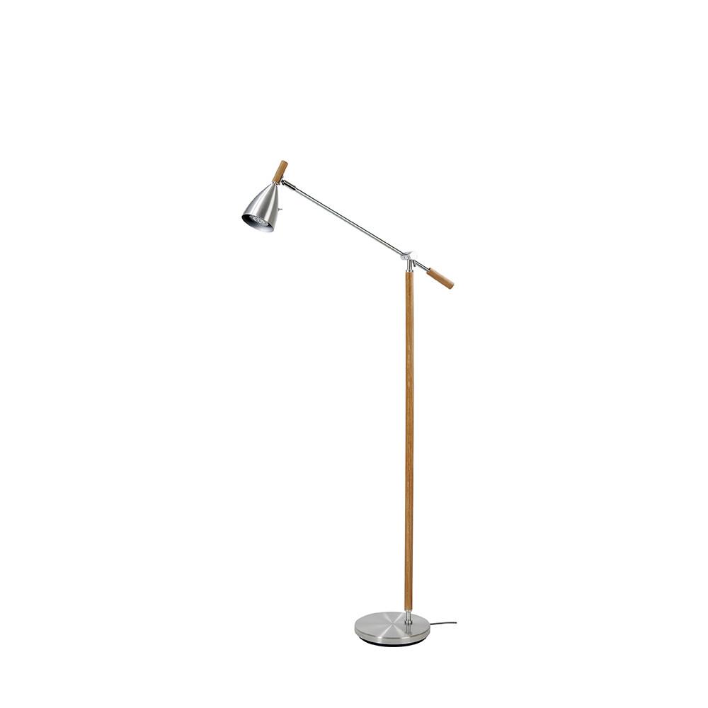 Frank 2.0 Gulvlampe Alu/Eg LED Dæmpbar – Belid