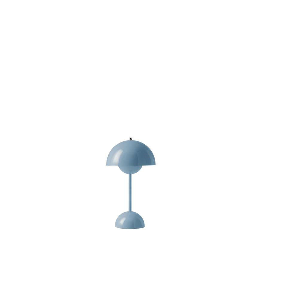 Flowerpot Portable Bordlampe VP9 Light Blue - &tradition