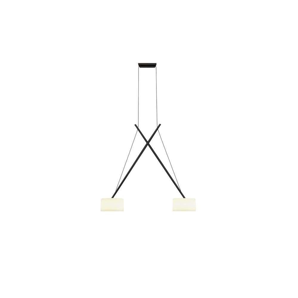 Twin LED Pendel Black/Glass – Serien Lighting