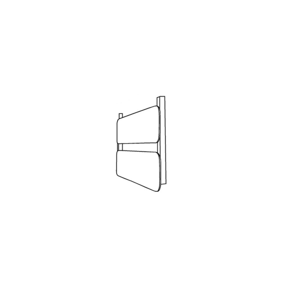 Rørhat Small Navneplade XS 2 Delt Blank Kobber - LIGHT-POINT thumbnail