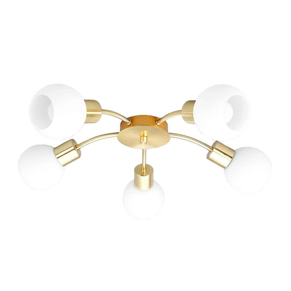 Elaina 5 LED Loftlampe Brass – Lindby