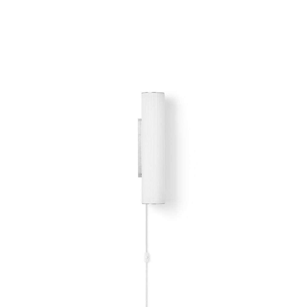 Vuelta Væglampe 40 White/Stainless Steel - Ferm Living thumbnail