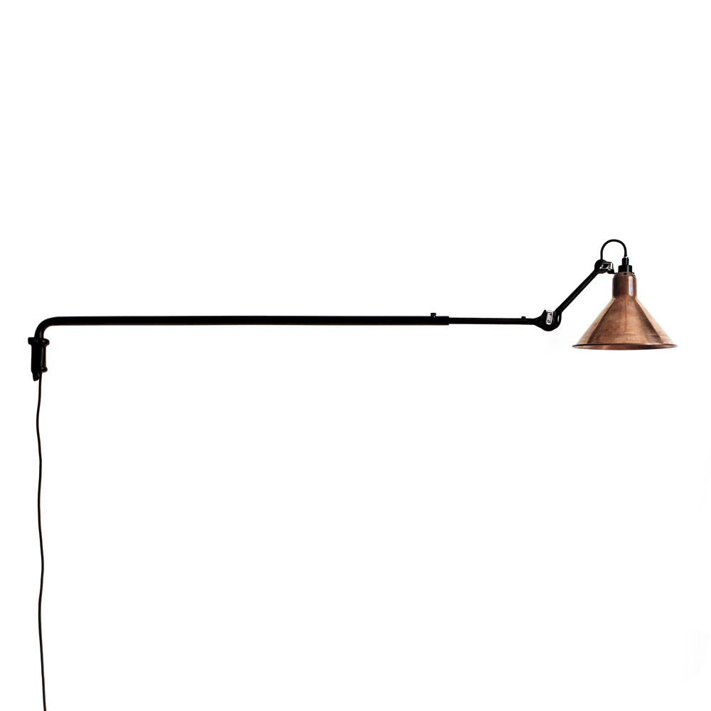 213 Væglampe Sort/Raw Kobber/Hvid - Lampe Gras thumbnail