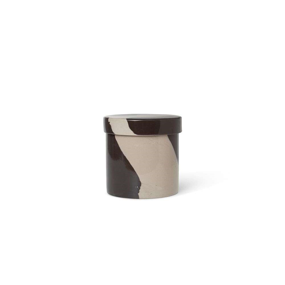 Inlay Container Large Sand/Black - Ferm Living thumbnail