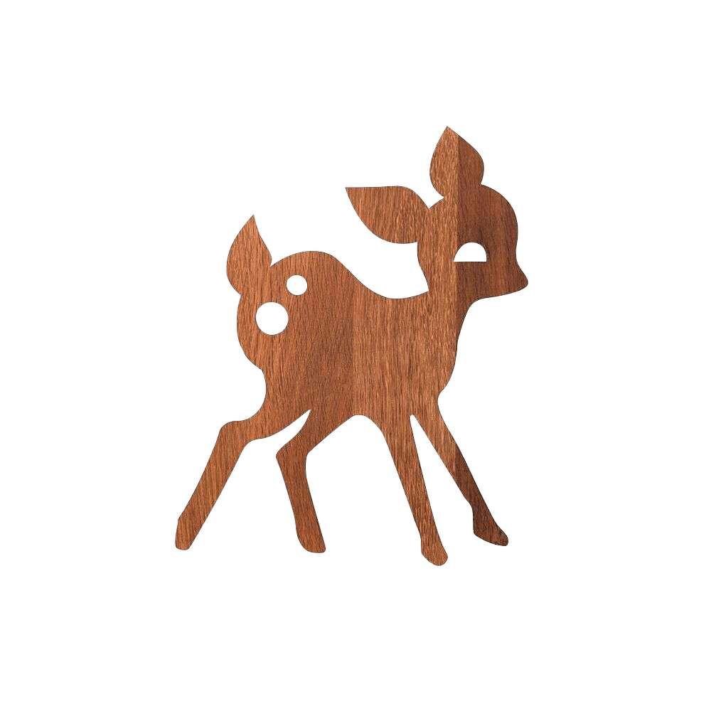 Image of My Deer Væglampe Smoked Oak - Ferm Living (15990583)