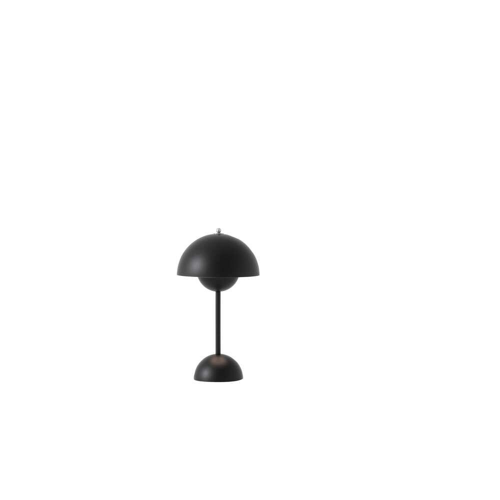 Flowerpot Portable Bordlampe VP9 Matt Black - &tradition