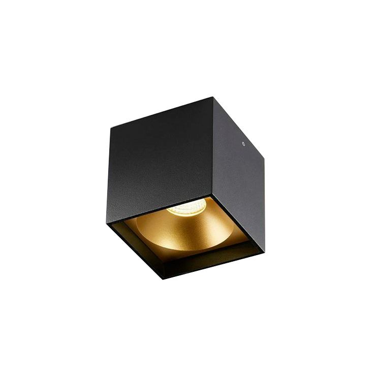 Solo Square LED 3000K Loftlampe Sort/Guld – LIGHT-POINT