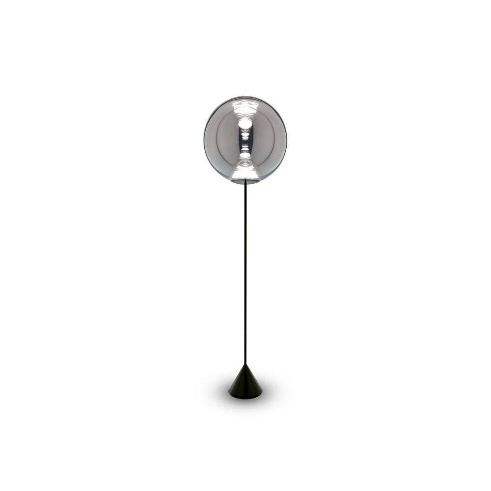 Image of Globe Cone Gulvlampe Chrome Black - Tom Dixon (16117219)