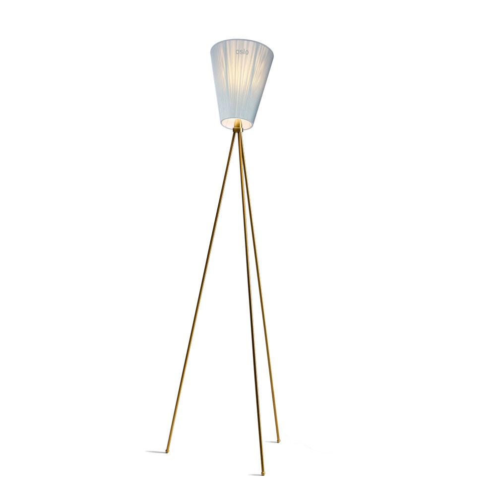Oslo Wood Gulvlampe Guld/Lys Blå - Northern thumbnail