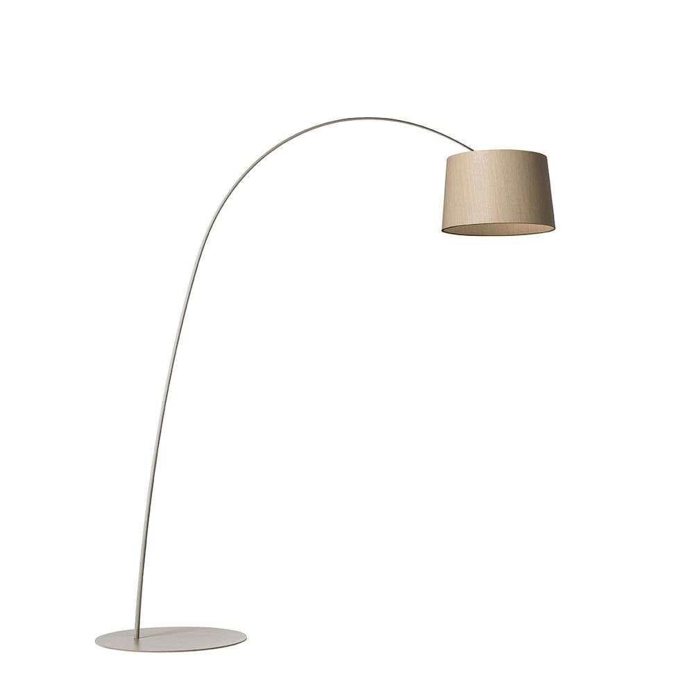 Twiggy Gulvlampe LED Greige/Wood – Foscarini