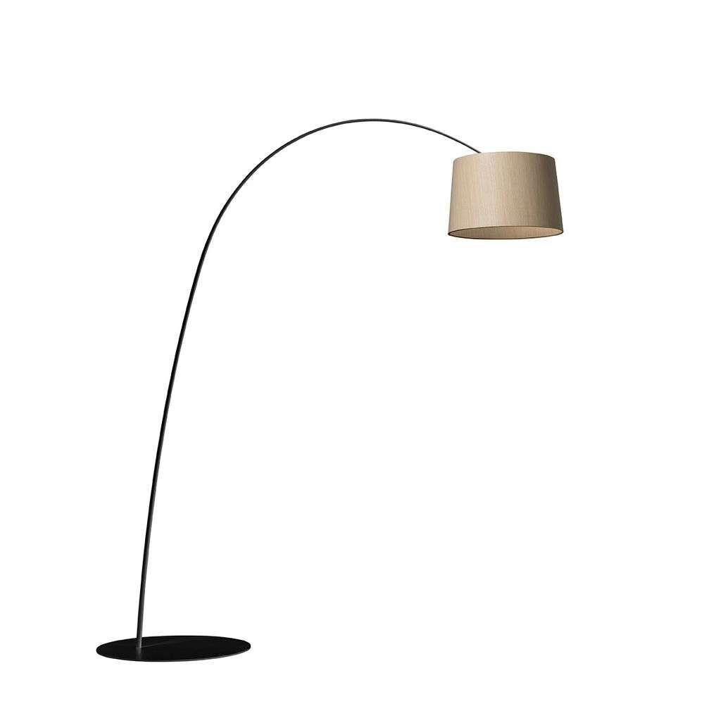 Image of Twiggy Gulvlampe LED Black/Wood - Foscarini (16049299)