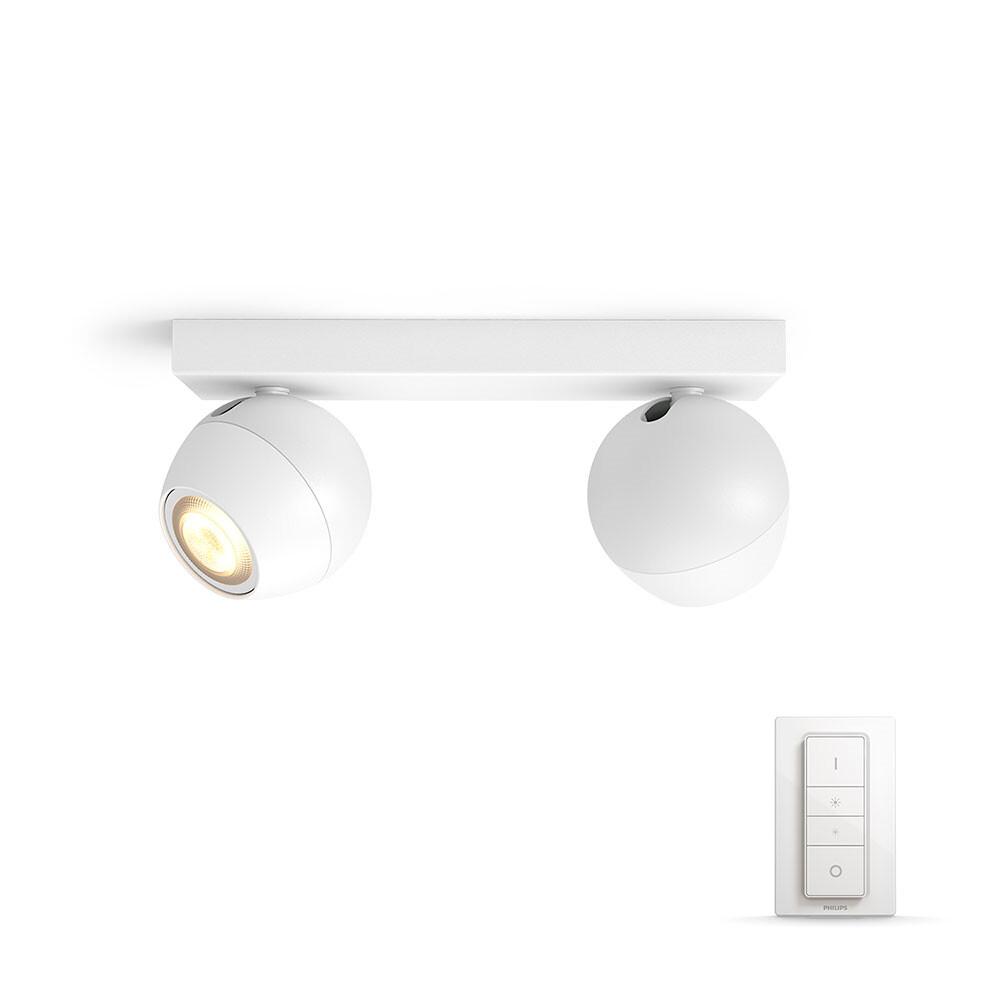 Buckram Loftlampe 2xBar/Tube Hvid - Philips Hue thumbnail