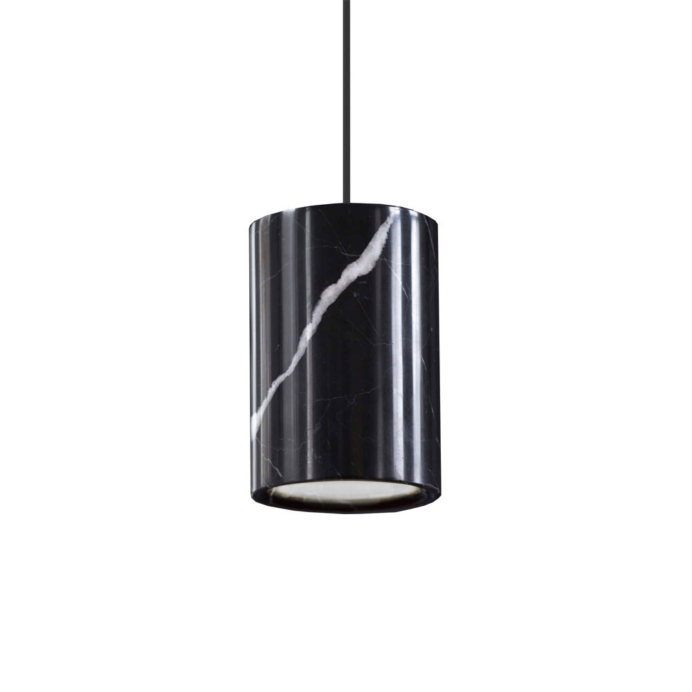 Solid Pendel Cylinder Nero Marquina Marble - Terence Woodgate thumbnail