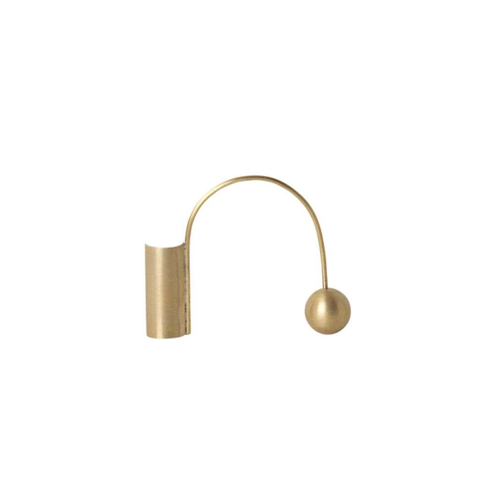 Image of Balance Candle Holder Brass - Ferm Living (16190815)