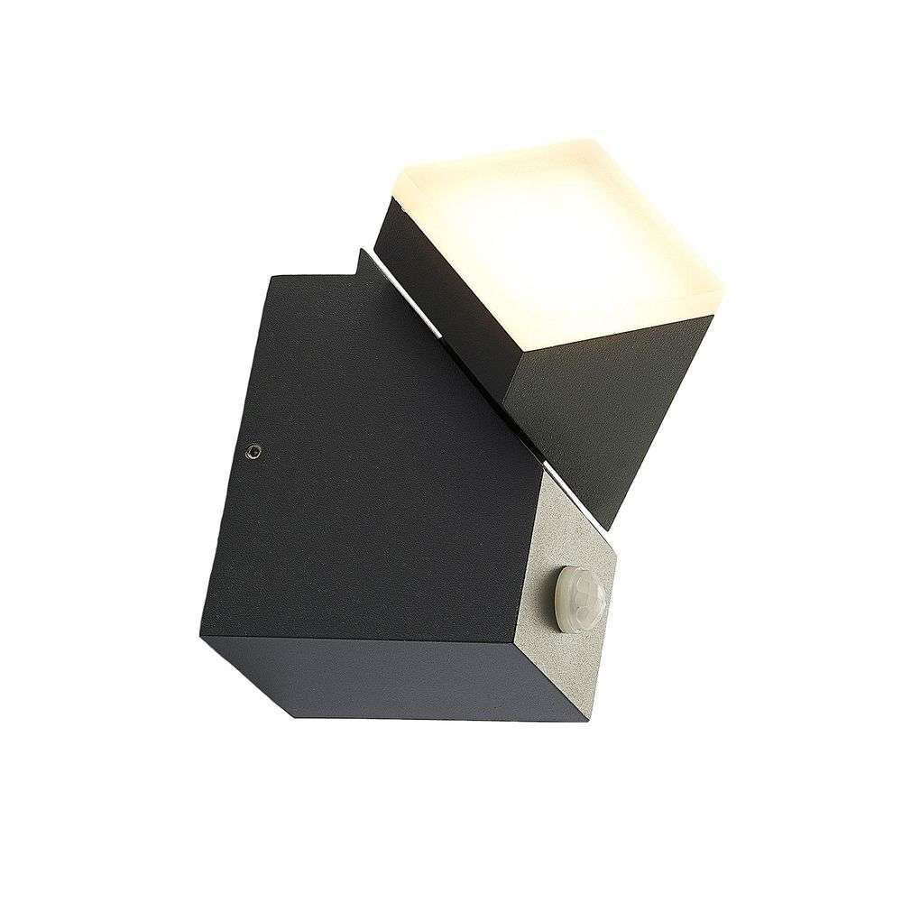 Sally Down LED Udendørs Væglampe w/sensor Grey – Lindby