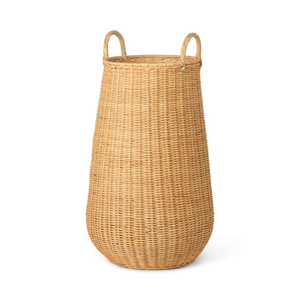 Braided Laundry Basket Natural - Ferm Living thumbnail