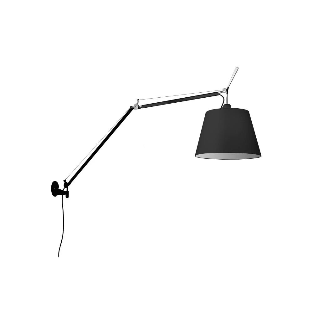 Billede af Tolomeo Mega Væglampe Sort - Artemide