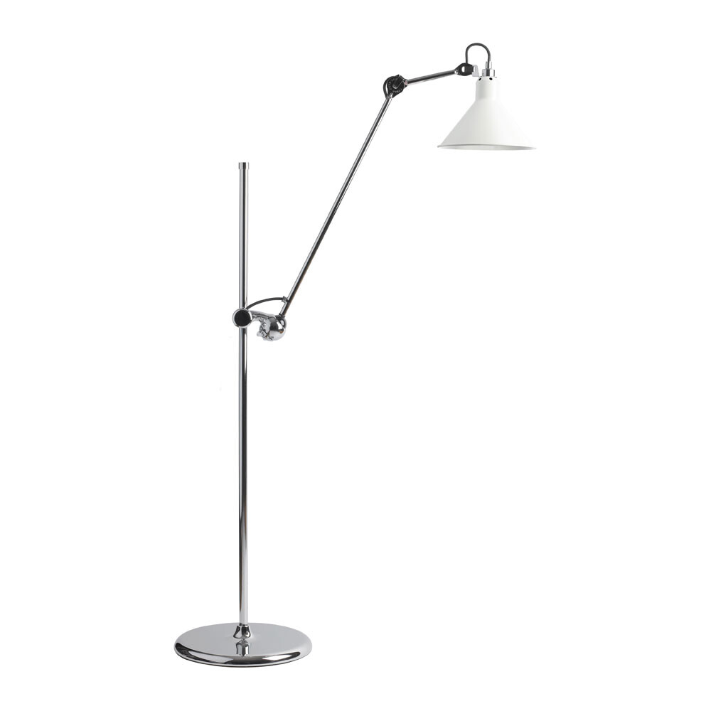 215 Gulvlampe Krom/Hvid - Lampe Gras thumbnail
