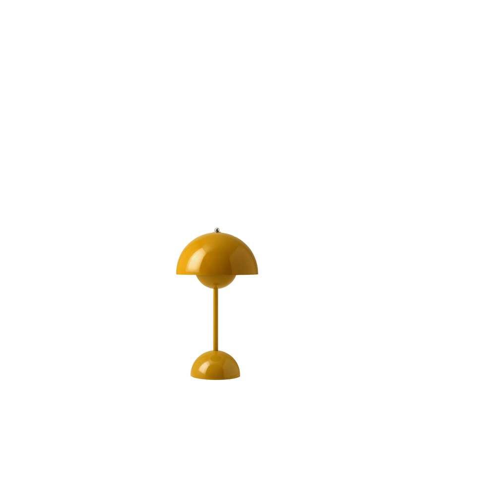 Flowerpot Portable Bordlampe VP9 Mustard - &tradition