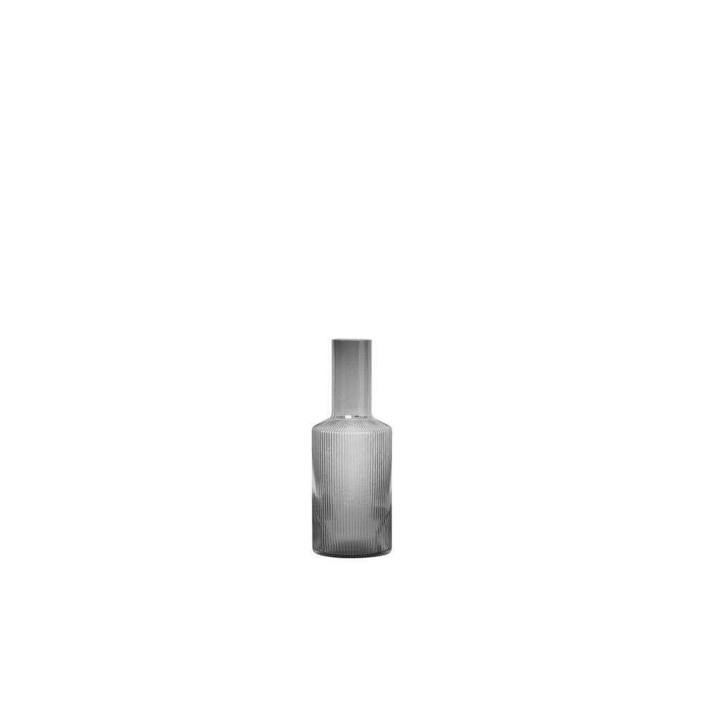 Image of Ripple Carafe Smoked Grey - Ferm Living (16161524)