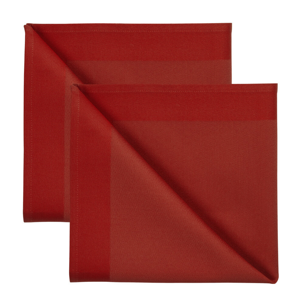 Image of 2 stk. DAMASK servietter Deep Red
