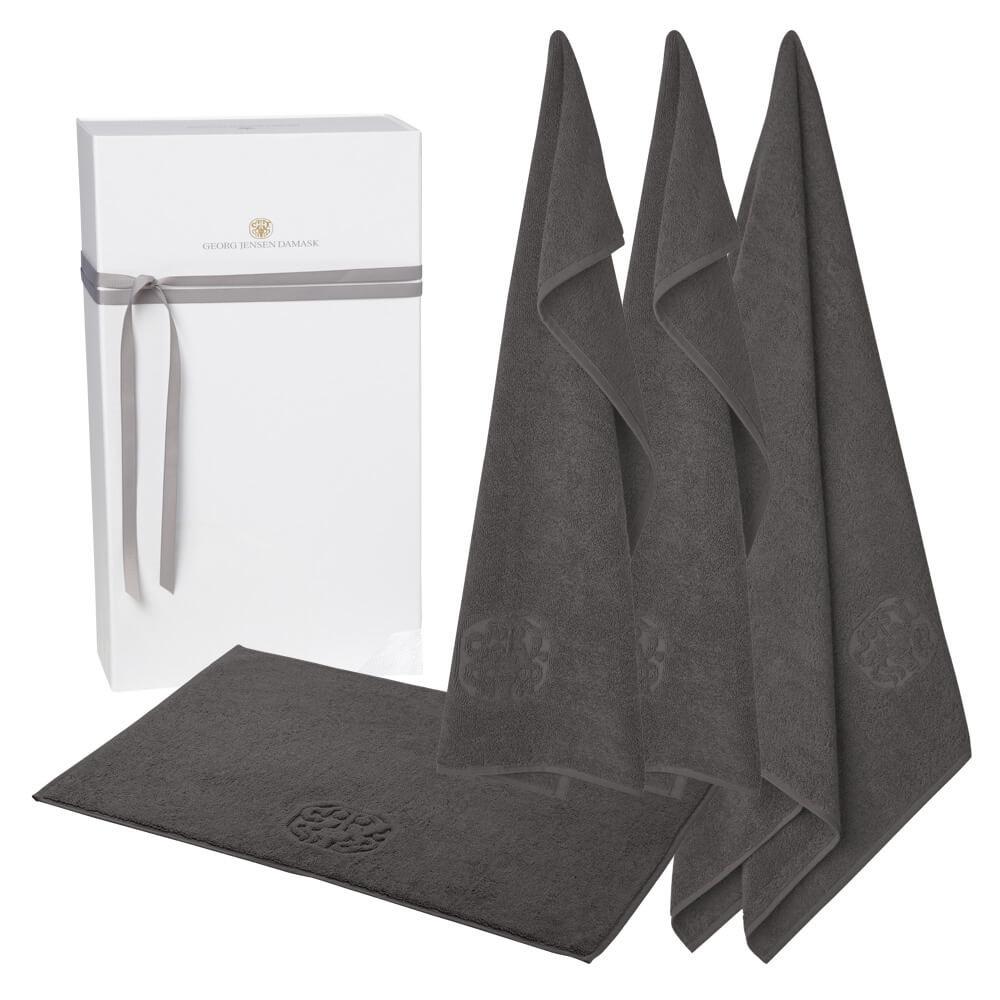 Image of   1 stk. badehåndklæde, 2 stk. gæstehåndklæder og 1 stk. bademåtte