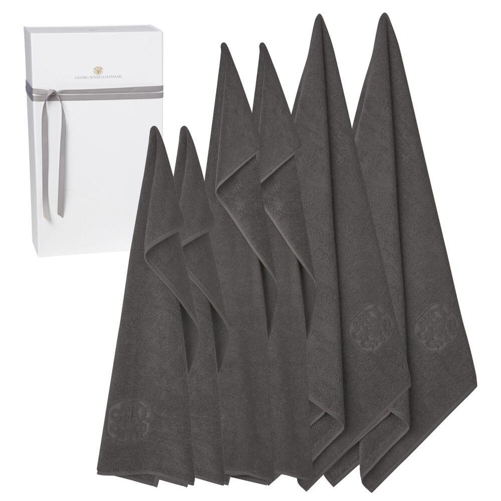 Image of   2 stk. gæstehåndklæder, 2 stk. håndklæder og 2 stk. badehåndklæder