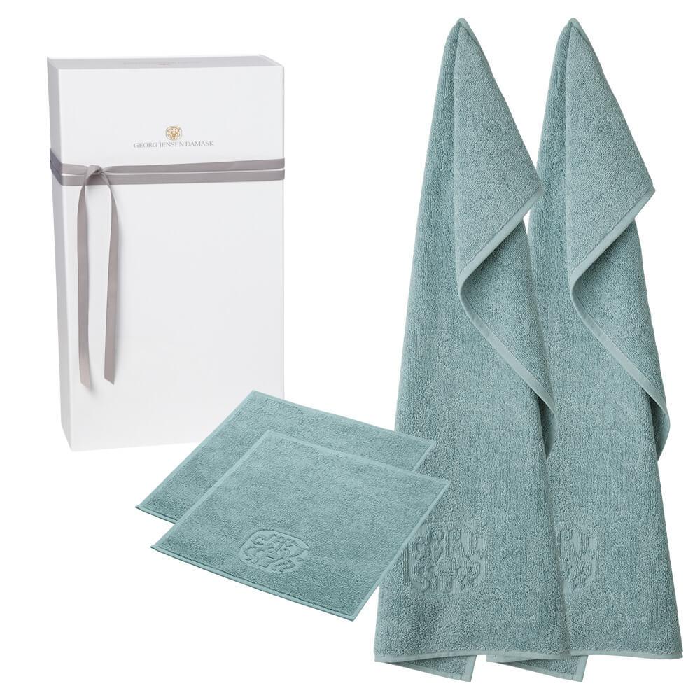 Image of   2 stk. gæstehåndklæder og 2 stk. vaskeklude