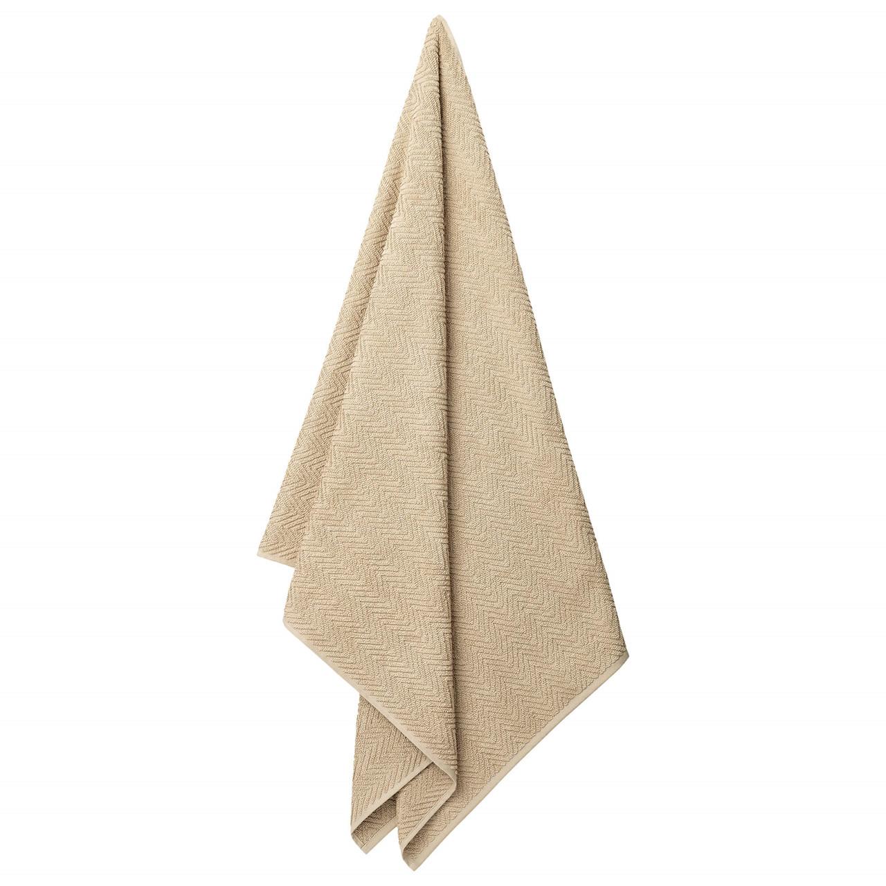 HERRINGBONE badehåndklæde White Pepper