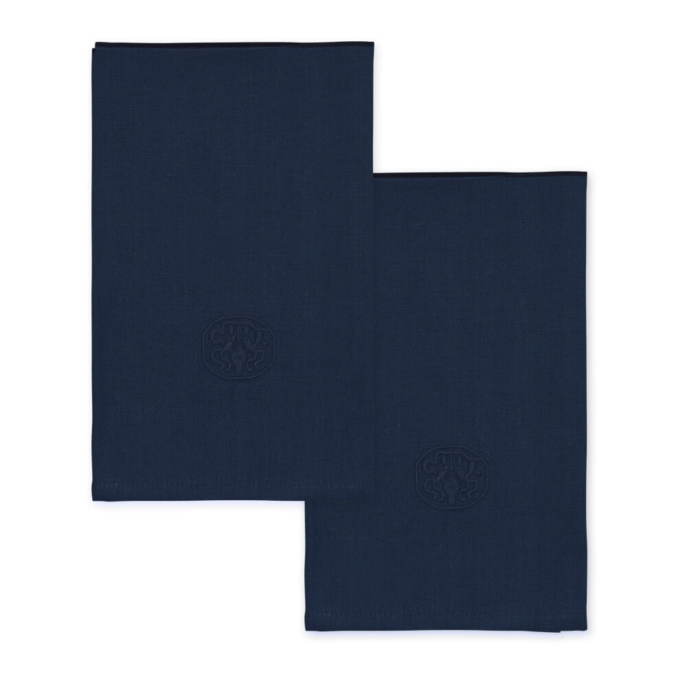 Image of 2 stk. PLAIN hørservietter Deep blue