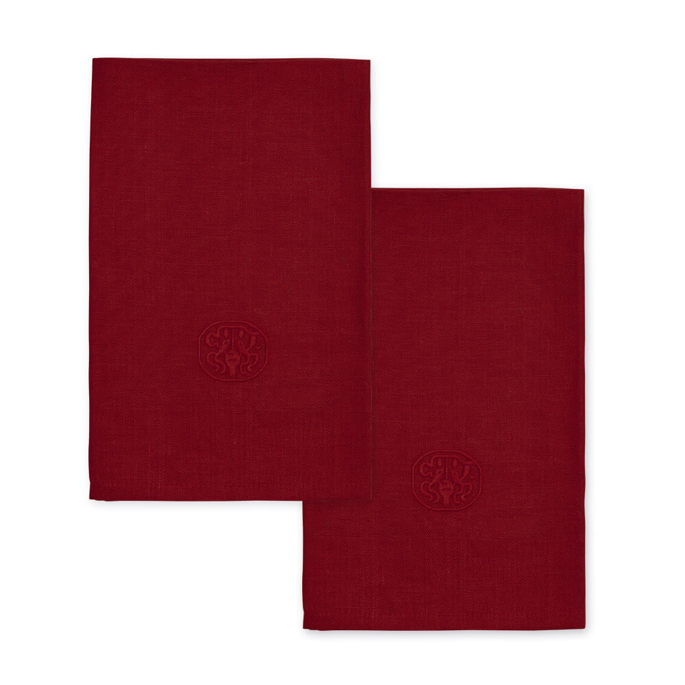 Image of 2 stk. PLAIN hørservietter Deep Red