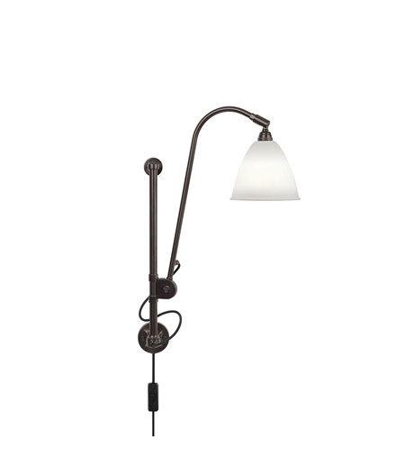 BL5 Vegglampe Ø16 Svart Messing/Porselen - GUBI