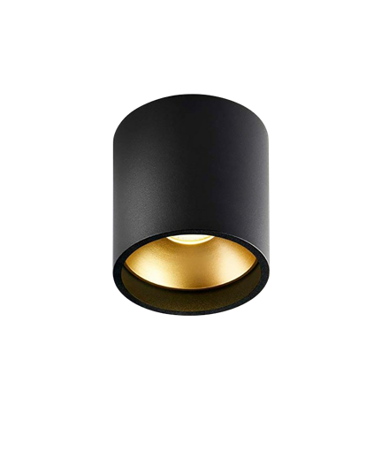 Solo Rund Loftlampe Sort/Guld - LIGHT-POINT