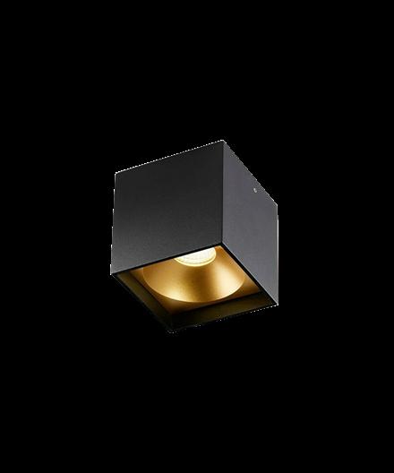 Solo Square Deckenleuchte Schwarz/Gold - LIGHT-POINT