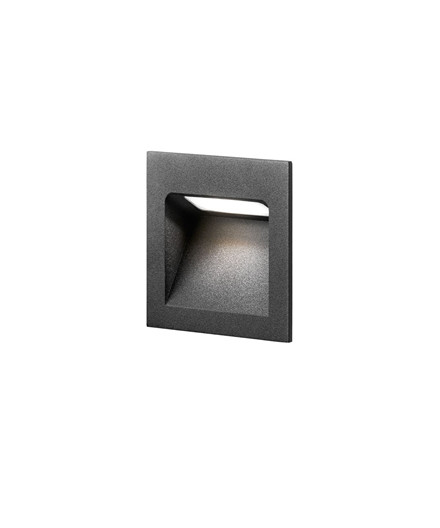 Deli 1 Væglampe Sort - LIGHT-POINT