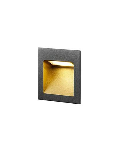 Deli 1 Væglampe Sort/Guld - LIGHT-POINT