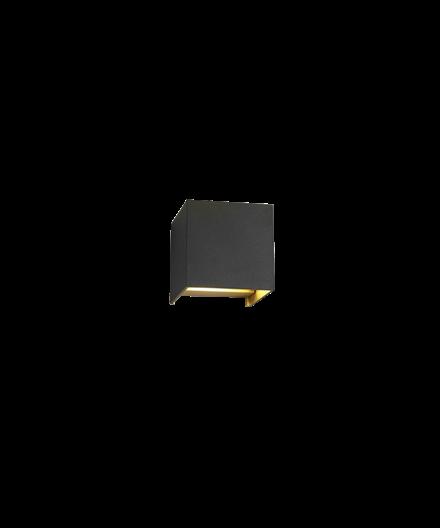 Box Mini Up/Down Væglampe Sort/Guld - LIGHT-POINT