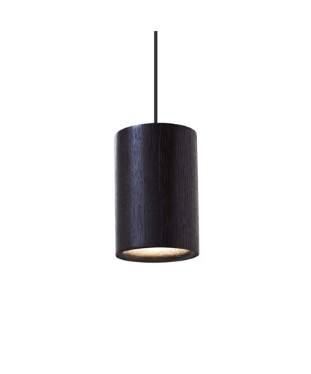 Solid Taklampe Cylinder Black Stained Oak - Terence Woodgate
