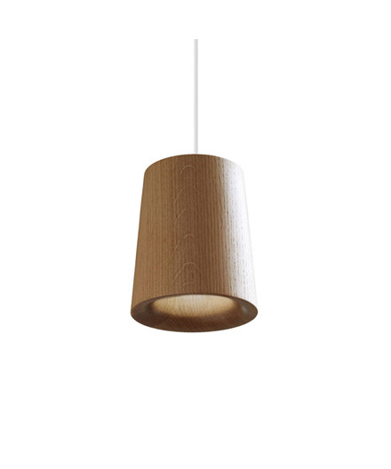 Solid Taklampe Cone Natural Oak - Terence Woodgate