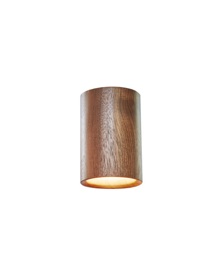 Solid Downlight Cylinder Walnut - Terence Woodgate