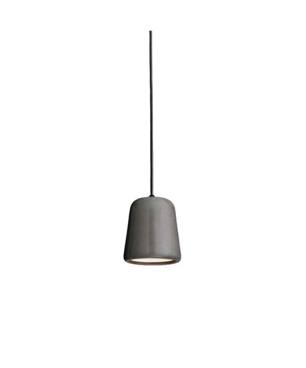 Material Pendelleuchte Dark Grey Concrete - New Works