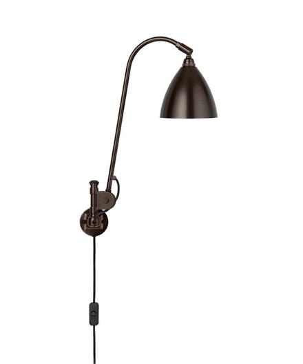 BL6 Vegglampe Ø16 Svart Messing/Svart Messing - GUBI