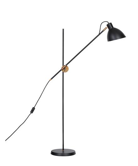 KH#1 Sort/Rå Messing Gulvlampe - KonstHantverk