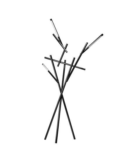 Tuareg Gulvlampe Svart Krom - Foscarini