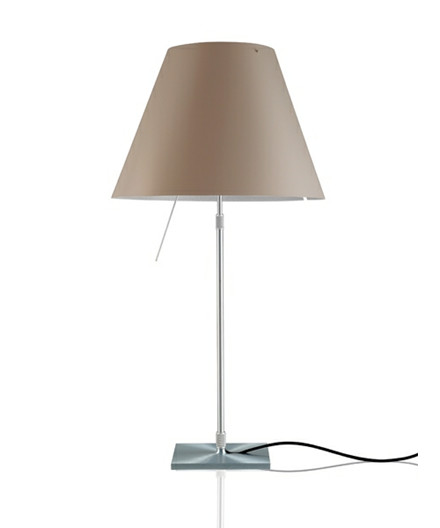 Costanza Bordlampe Alu/Shaded Stone - Luceplan