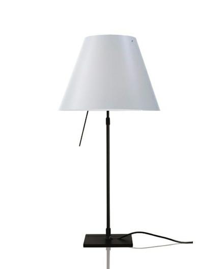 Costanza Bordlampe m/Dimmer Sort/White - Luceplan
