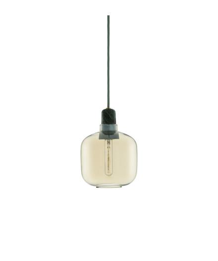 Amp Pendel Small Guld/Grøn - Normann
