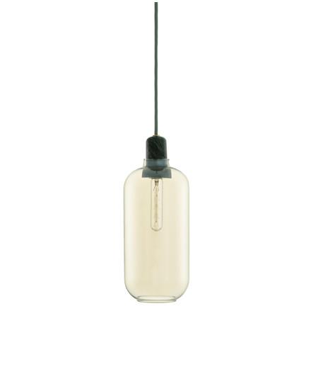 Amp Taklampa Large Guld/Grön - Normann
