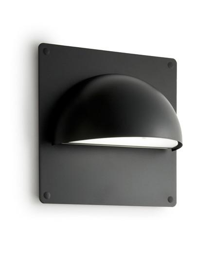 Rørhat Bagplade XL 30X30cm Sort - LIGHT-POINT