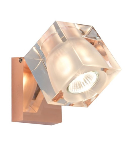 Ice Cube Classic Vegglampe/Taklampe Kobber - Fabbian